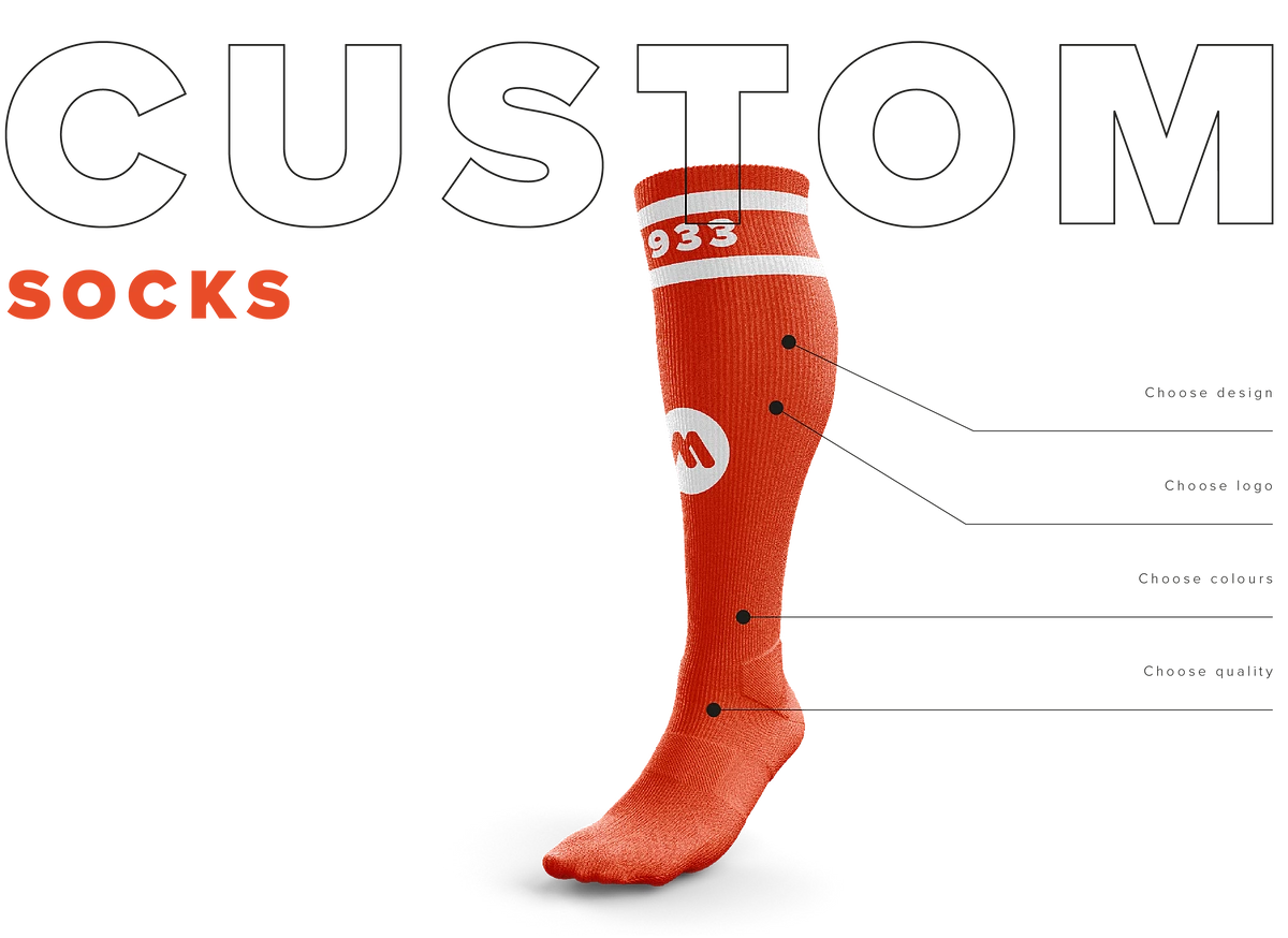 Masita customizable orange sock