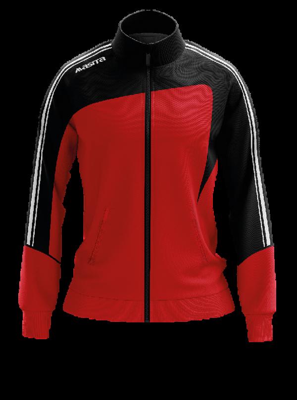 Masita Forza Collection Trainingjacke Ladies Schwarz Rot