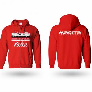 Kapuzen Sweater FC Kielen_rot