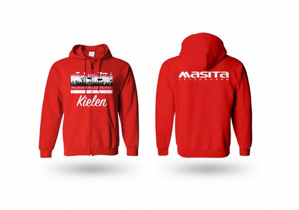 Masita FC Kielen Rot Kapuzen Sweater