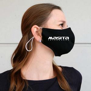 Schwarz Gesichtsmaske mit Masita logo