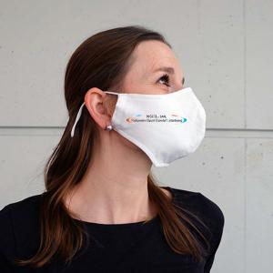 Frau mit Weisse - NSHL Gesichtsmaske
